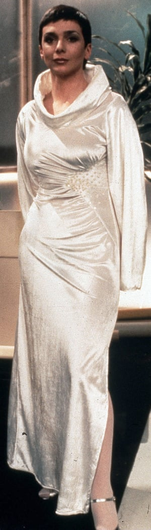 Jacqueline Pearce as Servalan.