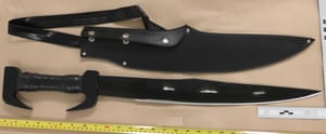 A knife found at the address of one of the four teenager jailed for the murder of Mahamed Hassan