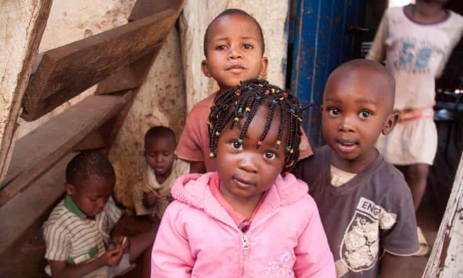Children in an orphanage in Kibera, Nairobi, Kenya