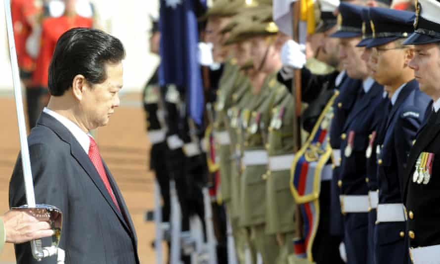 'Australia should of course seek to have good relations with its neighbours. That also means raising human rights concerns.' President Nguyen Tan Dung during his last state visit, in 2008.