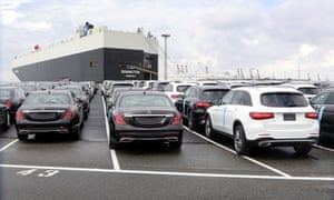 Cars in Germany wait export
