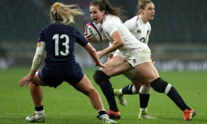 Emily Scarratt's running, tackling and kicking helped England to the grand slam last season.
