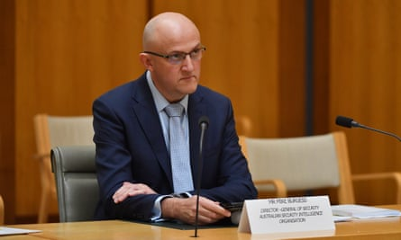Asio director general Mike Burgess appears before a parliamentary joint committee hearing