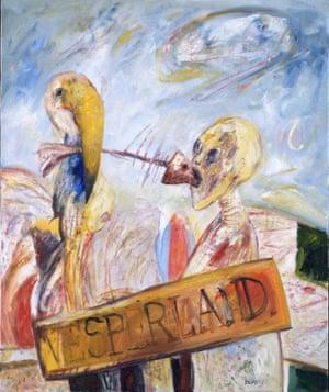 Vesperland, 1981, by John Bellany