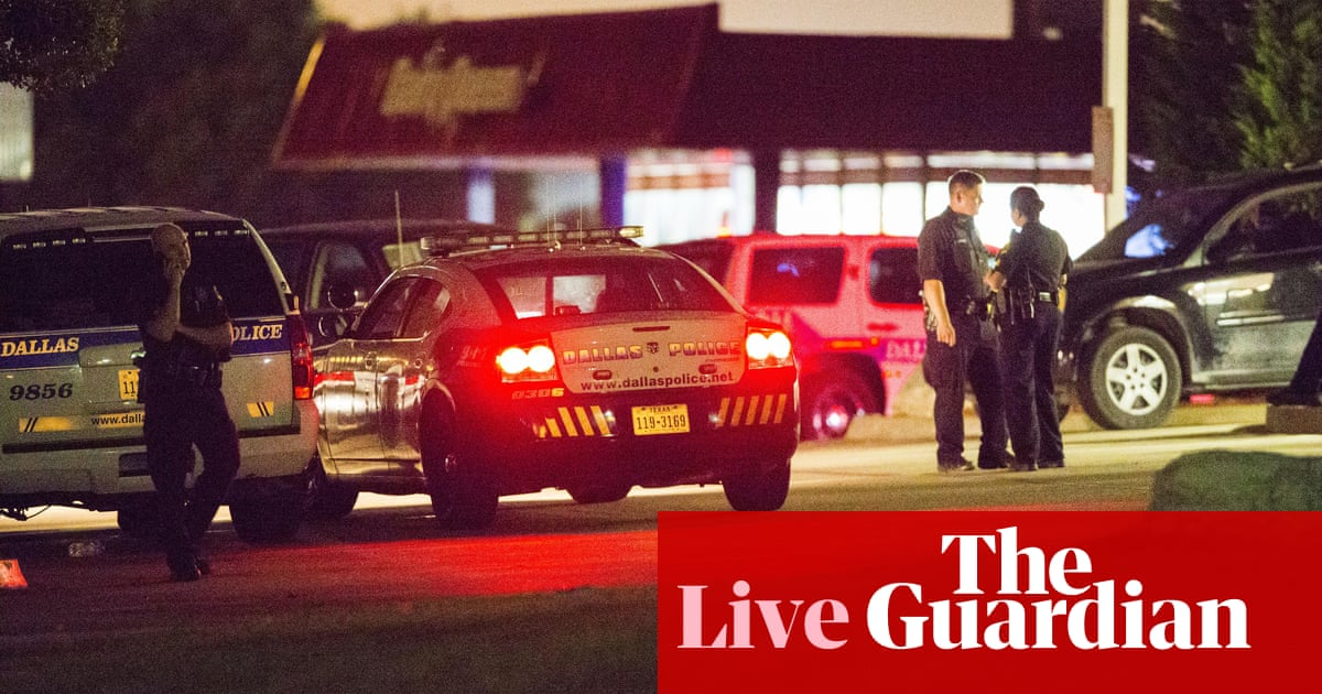 Dallas police confirm HQ attack suspect shot by sniper is dead – as