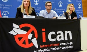 The International Campaign to Abolish Nuclear Weapons, which were awarded the 2017 Nobel peace prize.