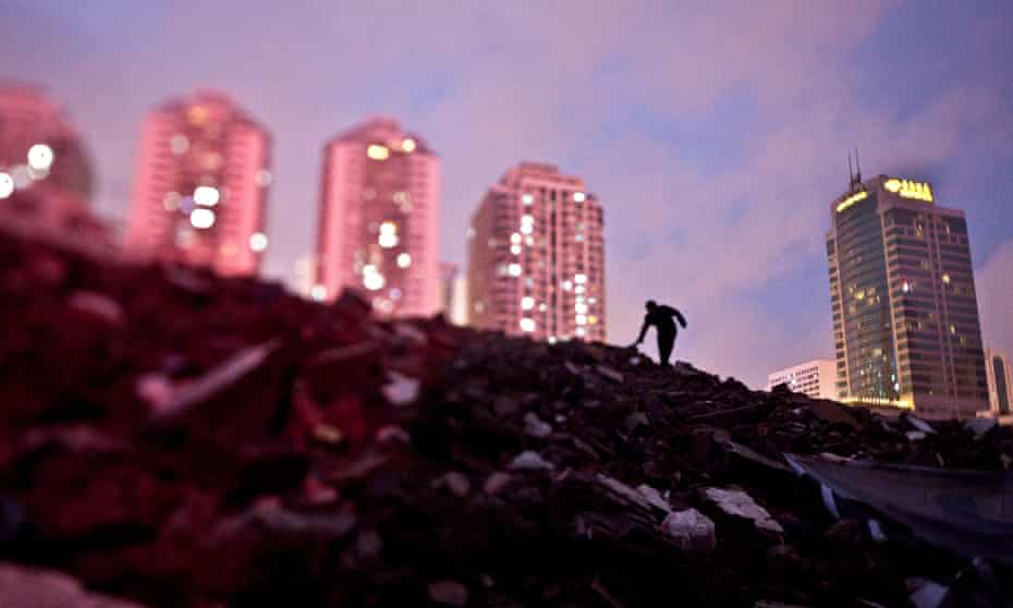 Construction waste piled up in Shenzhen, China