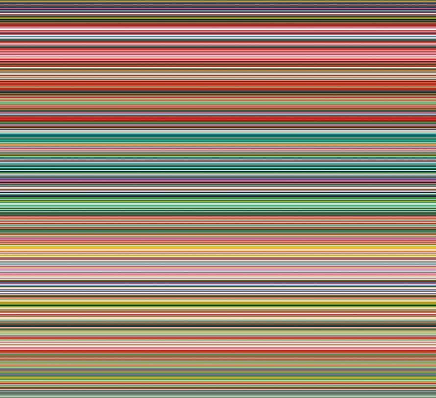 Strip (927-9), 2012, digital print on paper between Alu Dibond and Perspex