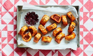 Thomasina Miers' Indian-spiced sausage rolls,