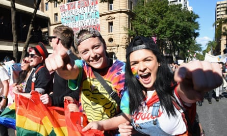 Same-sex Marriage rally in Brisbane in August 2015
