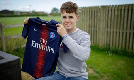Alex Mann, 15, at home near Wells
