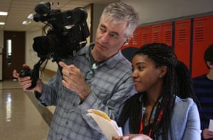 Steve James on the set of America to Me
