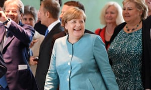 Angela Merkel could start a fight.