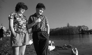 Tracey with Ben Watt, her romantic and also musical partner in Everything But the Girl, Richmond, London, March 1982.