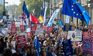 The People's Vote march in London last month.