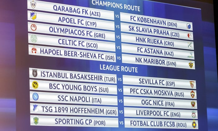 Liverpool face Hoffenheim and Celtic draw Astana in