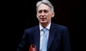 Britain's Chancellor of the Exchequer Philip Hammond.