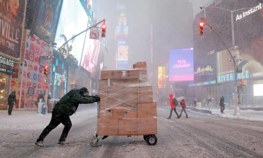 Times Square in New York is bracing for close to record cold weather on New Year's Eve.