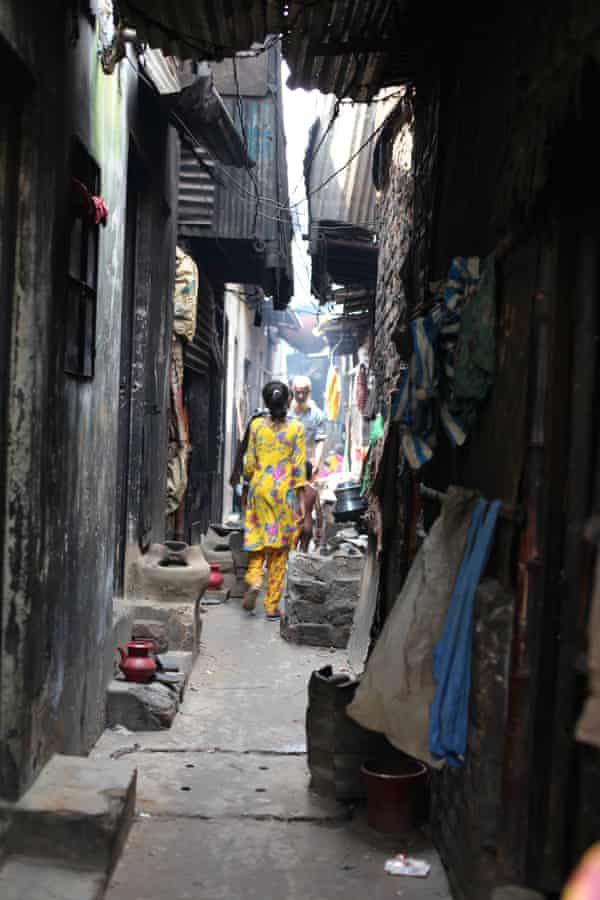 Rabeya, 12 walks through Peyarabagh slum