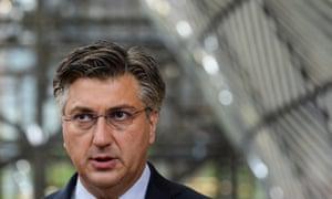 Croatia's Prime Minister Andrej Plenkovic,