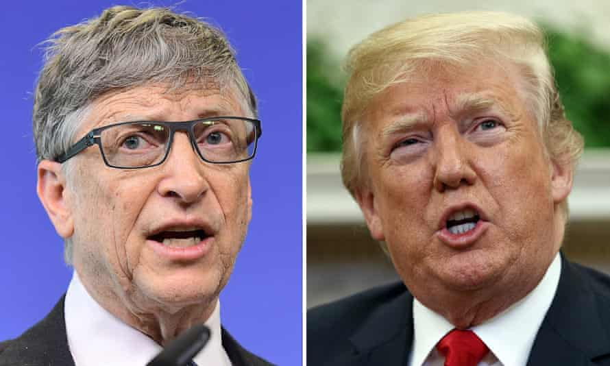 Composite showing Bill Gates and Donald Trump