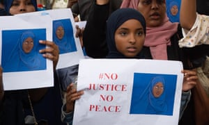 A protest in Westminster in July calling for further investigation into the death of 12-year-old Shukri Yahya Abdi.