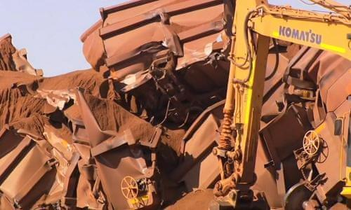 Mangled wreckage of BHP runaway train revealed in video