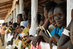 South Sudanese refugees at Imvepi
