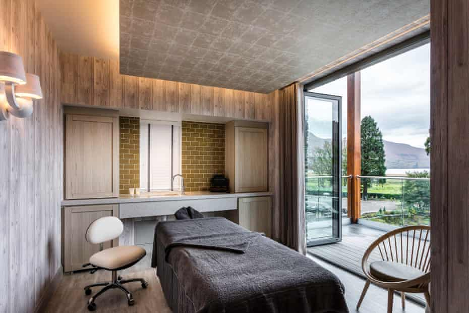 Spa room with view of the Lake District at Lodore Falls Hotel & Spa, Cumbria