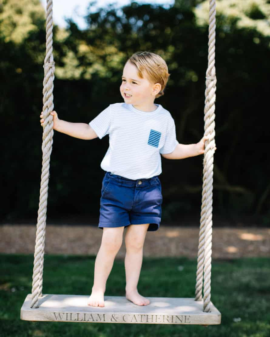 Nonchalant … Prince George models the ideal short-length, on a swing.
