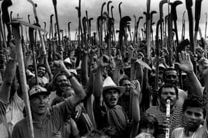Landless workers in Cuiabá Farm, Sertão de Xingó, Sergipe state, Brazil