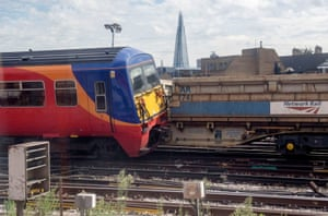 London, UK The scene at Waterloo, Britain's busiest station, after a South West Trains passenger service collided with a Network Rail engineering wagon