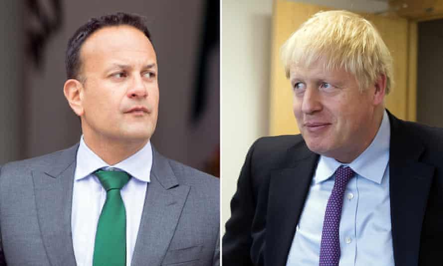 Leo Varadkar and Boris Johnson.