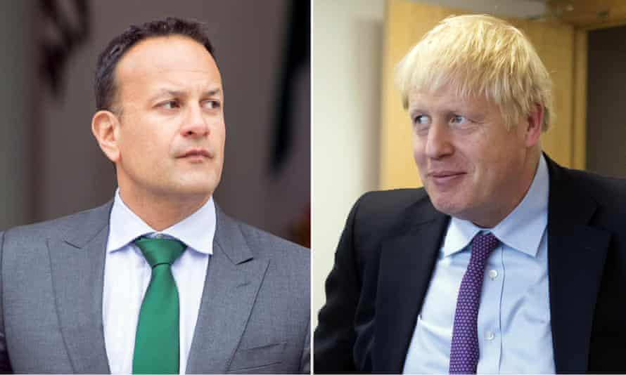 Irish taoiseach Leo Varadkar and UK prime minister Boris Johnson.