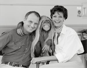 Sam McKnight with Linda Evangelista and Jesse the chimp, Los Angeles, 1992'Working on one of the many shoots I did with Linda, I watched her open the doors of a church in a little town in Umbria, dressed to the nines, hair and makeup perfectly in place, flying out with a dozen dobermans running behind her,' McKnight remembers. 'Each girl was unique … We did cover after cover. Shoot after shoot. Watching their fame and power grow, along with their hair. Living their lives on the Concorde, jetting all over the world, they became the silent movie stars of their day'