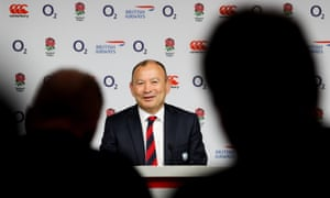 Eddie Jones meets the press on Monday in a rare public outing since November's World Cup final defeat.