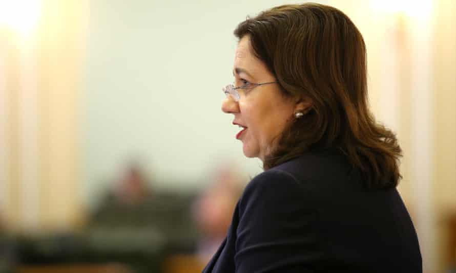 The Queensland premier Annastacia Palaszczuk