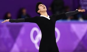 Nathan Chen posted a huge score in his free skate program