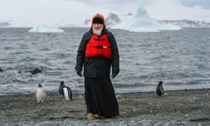 Patriarch Kirill poses for a photo at Russia's Bellingshausen Antarctic station.