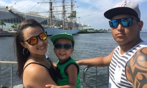 Jonatan Silva and family at Rio's renovated port.