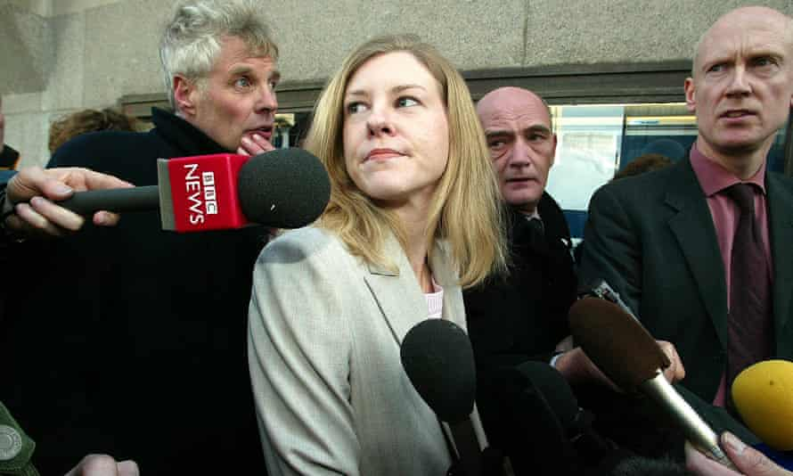 Katharine Gun outside the Old Bailey after charges had been dropped against her, 2004.