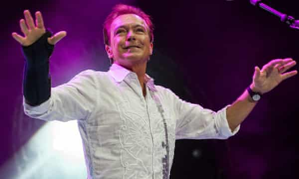 David Cassidy on stage in Birmingham
