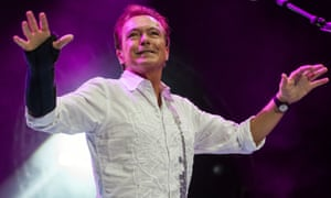 David Cassidy on stage in Birmingham