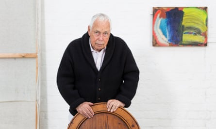 Howard Hodgkin in his studio in central London in 2014