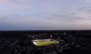An elevated view of Griffin Park