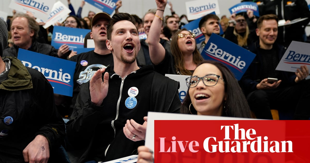 5832 - New Hampshire primary: Sanders holds steady lead over rivals in early results – live | US news