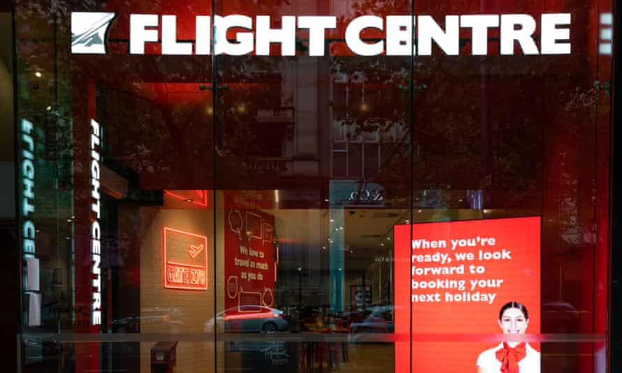 A closed flight centre store on April 05, 2020 in Melbourne, Australia.