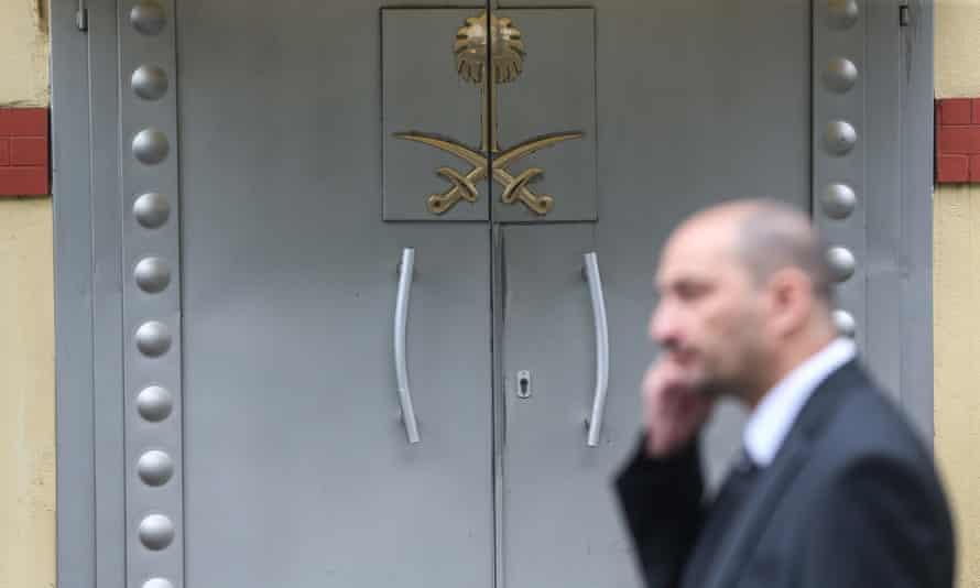 The Saudi Arabian consulate in Istanbul, Turkey.