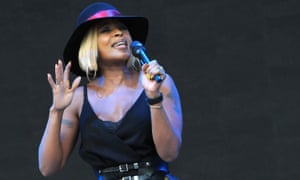 Mary J Blige performs on the Pyramid on Friday afternoons.