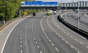 A view of the M25 motorway near Heathrow as the UK continues in lockdown to help curb the spread of the coronavirus, Friday 10 April 2020.
